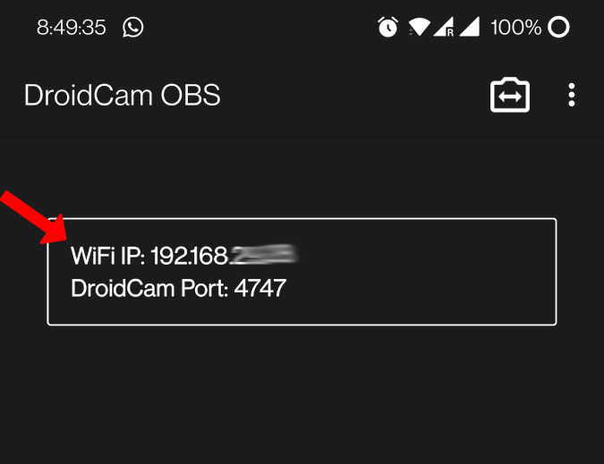 Droidcam OBS WiFi IP